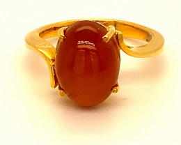 Cats Eye Scapolite 6.00ct Solid 18K Yellow Gold Ring
