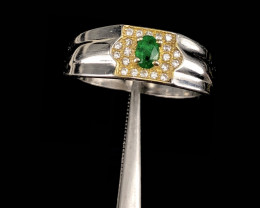 Beautiful Natural Emerald and small Zircon