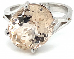 Imperial Topaz 11.31ct Solid 18K White Gold Ring