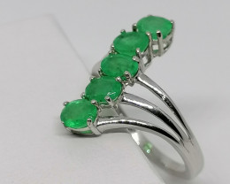 Emerald Crossover Ring 1.50 TCW