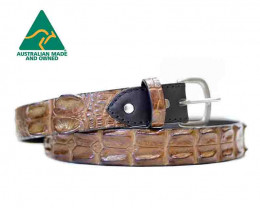 AUSTRALIAN SALTWATER CROCODILE SKIN GENUINE LEATHER BELTS [chest]