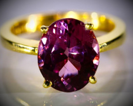 Pink Purple Tunduru Spinel 5.10ct Solid 22K Yellow Gold Ring