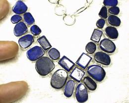 419.5 Deep Blue Lapis, Silver Necklace - Gorgeous