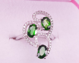 Natural Chrome Diopside Ring.