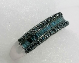 Blue Diamond Ring 0.50 TCW
