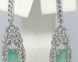 Grandidierite and Zircon Earrings 2.38 TCW