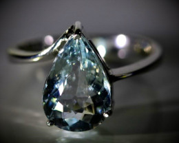 Aquamarine 2.80ct Solid 18K White Gold Ring