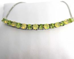 Opal and Peridot Bracelet 3.66 TCW