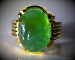 Prehnite 19.03ct Solid 18K Yellow Gold Ring