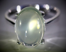 Moonstone 10.60ct Platinum Finish Solid 925 Sterling Silver Ring