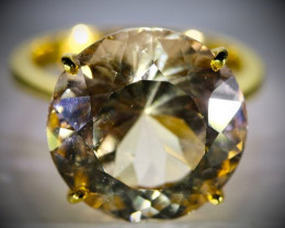 Imperial Topaz 19.66ct Solid 22K Yellow Gold Ring