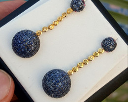 Beautiful Natural sapphire Earring.