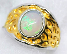Welo Opal Solitaire Ring 1.15ct.