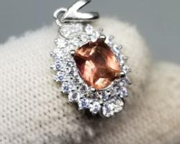 10.50ct Stunning Pink Tourmaline In 925 Serling Silver Pendant.