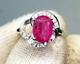 18.30ct Charming Ruby in 925 Sterling Silver Ring