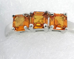 AAA Orange Sapphire Ring 1.30 TCW