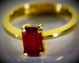 Winza Ruby 2.01ct Solid 22K Yellow Gold Ring 5.20g