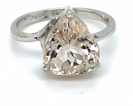 Imperial Topaz 5.32ct Solid 18K White Gold Ring