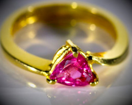 Baringo Ruby 1.14ct Solid 22K Yellow Gold Ring