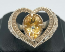 43.45 Crt Citrine 925 Silver Ring