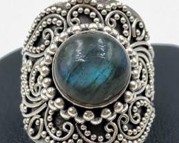48.85 Crt Labradorite 925 Silver Ring