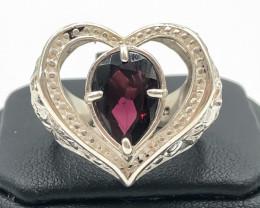 45.00 Crt Rhodolite Garnet 925 Silver Ring