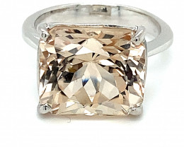 Imperial Topaz 13.43ct Solid 18K White Gold Ring