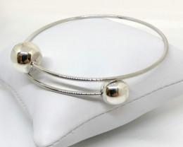 Sterling Silver Adjustable Bangle