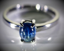 Blue Sapphire 1.64ct Platinum Finish Solid 925 Sterling Silver Ring