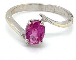 Mozambique Ruby 1.20ct Solid 18K White Gold Ring