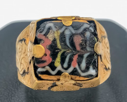 34.10 Crt Antique Design Gold Gilded Ring