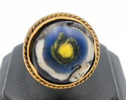 68.30 Crt Antique Design Gold Gilded Ring