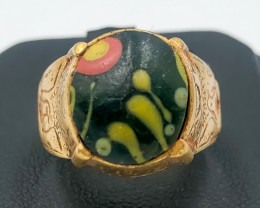 34.95 Crt Antique Design Gold Gilded Ring