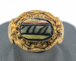 51.95 Crt Antique Design Gold Gilded Ring