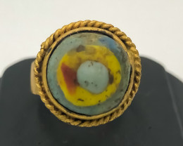 47.50 Crt Antique Design Gold Gilded Ring