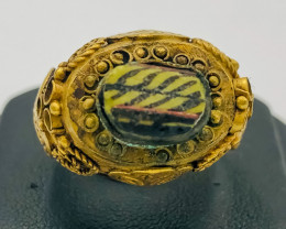 55.75 Crt Antique Design Gold Gilded Ring