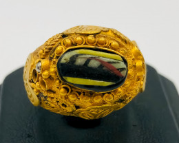 75.65 Crt Antique Design Gold Gilded Ring