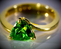 Tsavorite 2.49ct Solid 22K Yellow Gold Ring