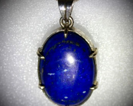 Lapis Lazuli 24.00ct Solid 925 Sterling Silver Pendant