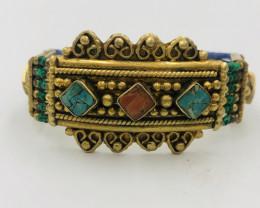 140 Crt  Gold Gilded Bracelet Brass Material
