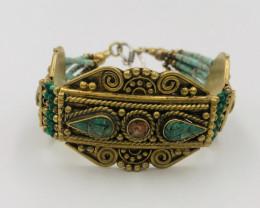 150 Crt  Gold Gilded Bracelet Brass Material