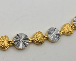 70 Crt  Gold Gilded Bracelet Brass Material
