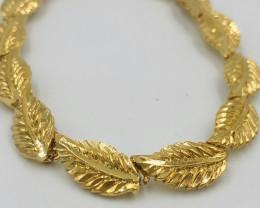 45 Crt  Gold Gilded Bracelet Brass Material