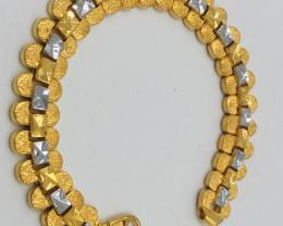 165 Crt  Gold Gilded Bracelet Brass Material