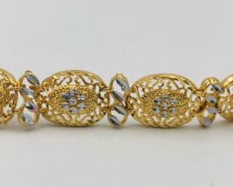 105 Crt  Gold Gilded Bracelet Brass Material