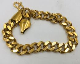 111 Crt  Gold Gilded Bracelet Brass Material