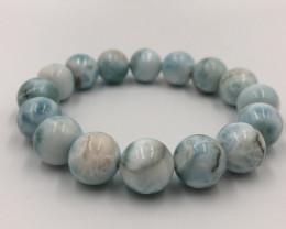 334.95 Crt Natural Larimar Bracelet