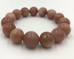 311.45 Crt Natural Peach Moonstone Bracelet