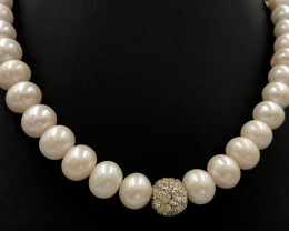 400 Crt Natural Fresh Water Pearls Necklace