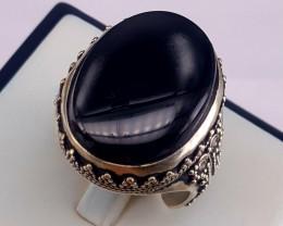 Natural Black yamani Agate.